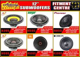 Subwoofers, widest range car audio and sound accesories , best prices,