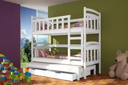 Łóżko dla dzieci piętrowe DAMIAN 3-osobowe ! Super kolory !