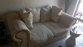 White two seater couch