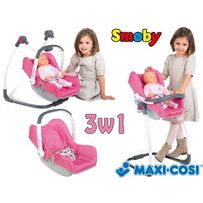 БЕСПЛ.ДОСТАВКА Стульчик для куклы Кресло Maxi-Cosi& 3 в 1 Smoby 240230