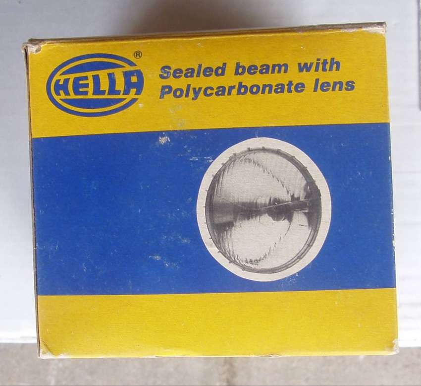 Vintage Hella Sealed beam lens - 12V - New