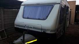 JURGENS EXCLUSIVE LT WITH RALLY TENT WITH SIDES FRONT PANEL AIRCON MOV
