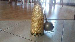 Piękny złoty Żyrandol ręcznie wykonany ze szkła