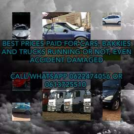 Sell your car today, highest prices paid