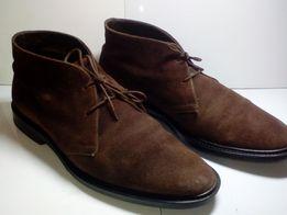 Замшевые полуботинки,ботинки теплые 44р.