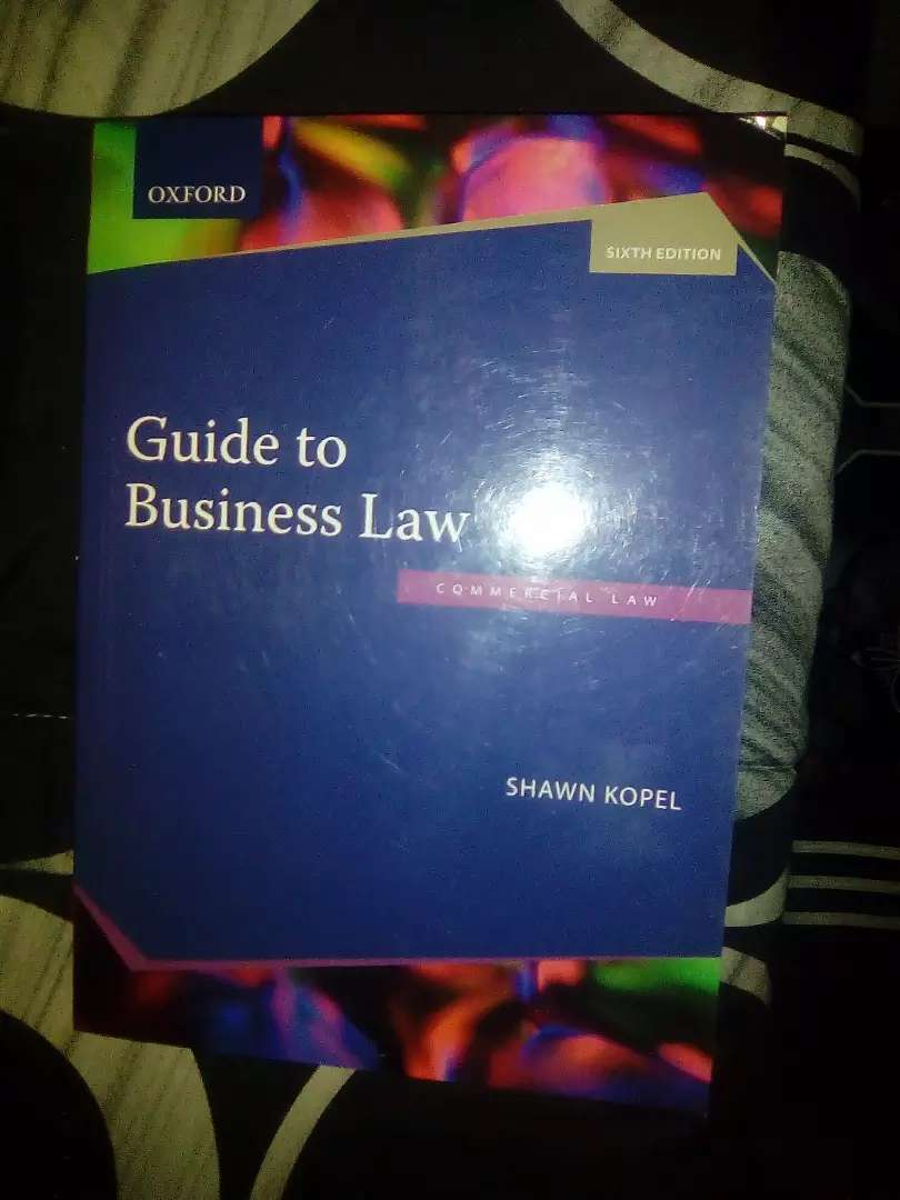 A book (Guide to business Law 0