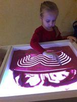 Планшет с подсветкой для рисования песком