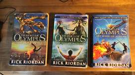 Heroes of Olympus Books 1, 2 and 3