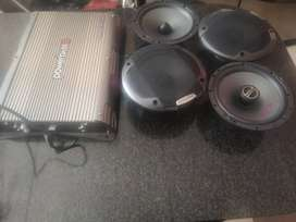 Alpine speakers and powerbass amp for sale