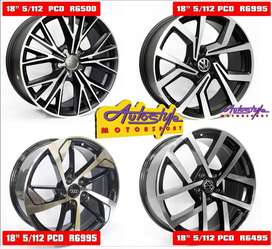 Mags alloy rims wheels suitable for VW Golf 5-6-7 and Audi 18 inch CT1