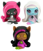 Набор минифигурок Monster High Кэтти, Эбби и Клодин