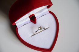 Pierścionek zaręczynowy z białego złota z brylantem 0,26 (!) CT