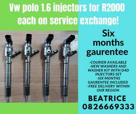 Vw polo 1.6 injectors for sale