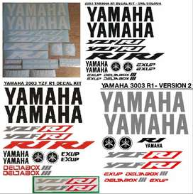 2003 Yamaha YZF R1 graphics stickers decals kits.