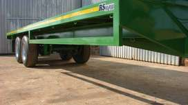 9m flat trailer cattle trailer. sheep, pig, cow transport double axle
