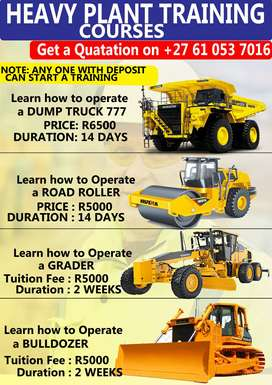 EARTH MOVING MACHINES TRAINING (DUMP TRUCK-TLB-GRADER-FORKLIFT-
