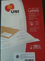 Этикетки самоклеющиеся (наклейки) Uni Labels 12 шт 70х67,7 300 руб.
