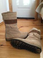 Сапоги замшевые. Зимние ботинки
