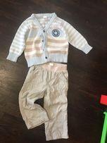 Костюм на весну брюки кофта на мальчика на годик