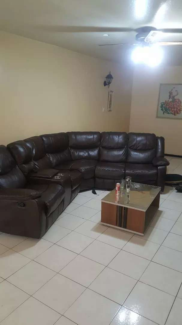 L SHAPE COUCH leather