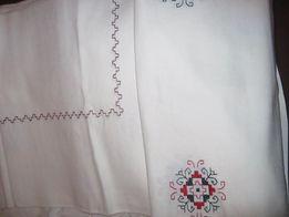 Комплект Скатерть льняная (лен) с вышивкой НОВАЯ + 6 салфеток