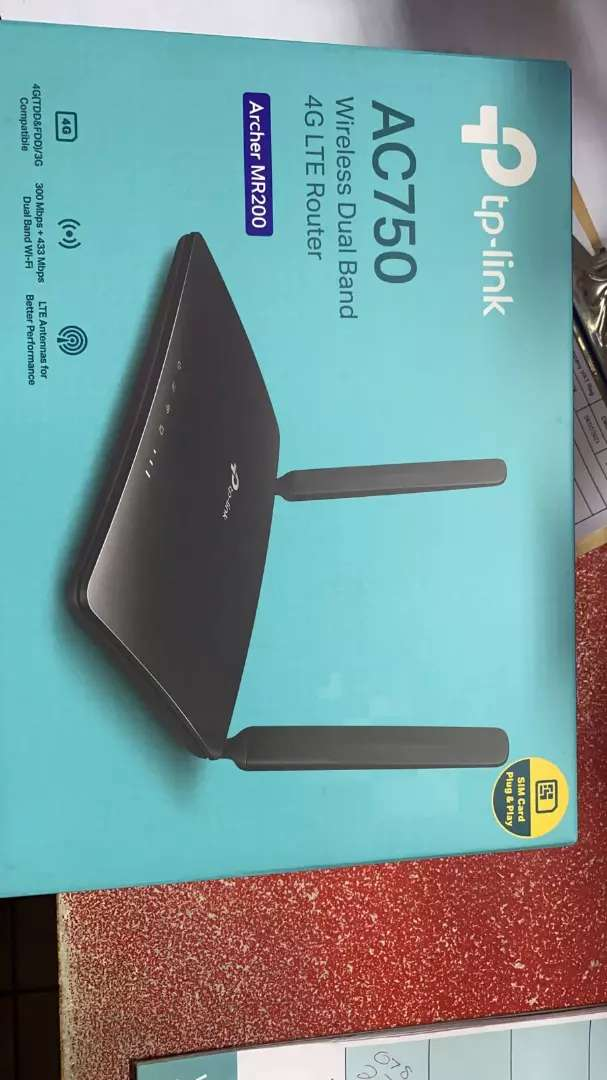 TP-LINK Wireless N Sim Slot 3G/4G/LTE Router 0