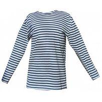 Тельняшка длинный рукав - ВМФ синяя полоса (тканные полосы, вязанка)