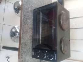 Second hand two plate stove with oven