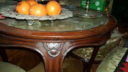 Ludwik oryginalne meble stylowe stół dwa krzesła taboret