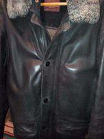 Продам зимнюю мужскую кожаную куртку.