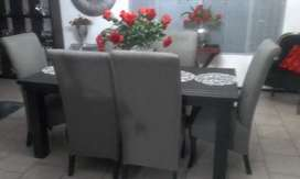 New grey and black dining set