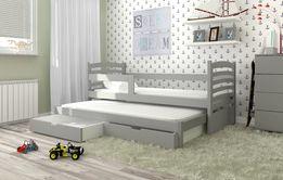 Łóżko podwójne OLI z materacami + szuflady ! DOSTAWA GRATIS