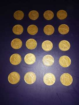 Hi I'm selling 20 cricket world cup 50 cents coins