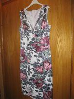 Sukienka XL w kwiaty