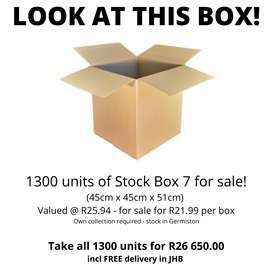 Units of Stock Box Size 7 For Sale!