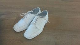 Buty pantofle - komunia - białe rozm.32