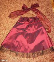 Impreza, wesele - spódnica z tafty + apaszka--roz.40