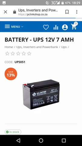 New 12v elec gate battery for sale