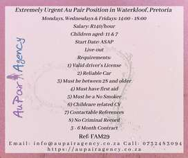 Au Pair Positions Waterkloof, Pretoria