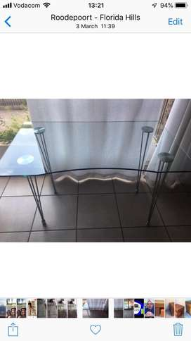 Glass table to go!
