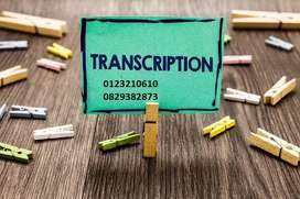 PROFESSIONAL TRANSCRIPTION SERVICES