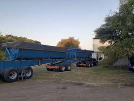 Side tipper  top trailer for Sale