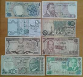 Nice set of 8 old world notes