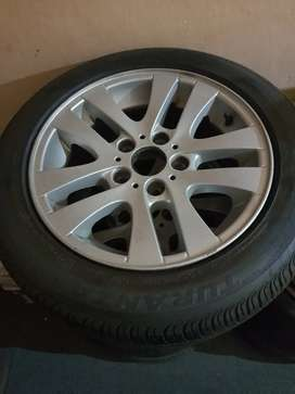 Set of bmw e90 rims and tires