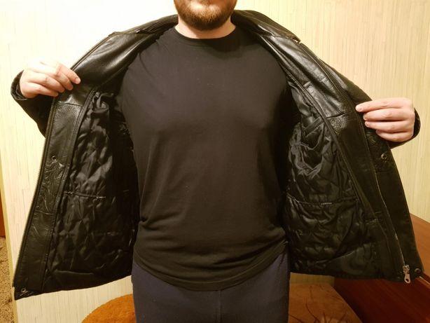 Кожаная куртка-трансформер р.L состояние новой Киев - изображение 4