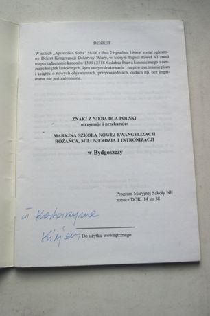 Znaki z nieba dla Polski Pomoz maryi ratowiac ojczyzne ksiazka wladysl Łódź - image 2