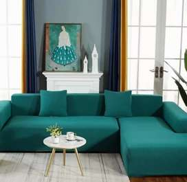 Very stylish and colorful L shaped couch