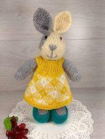 Мягкая вязаная игрушка кролик (для любителей Peter Rabbit)