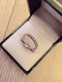 Image of Engagement and matching Wedding bands for sale