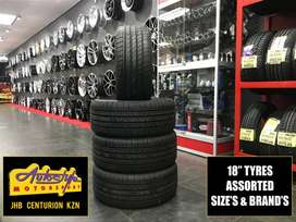 Tyres brand new 18 inch  from R750